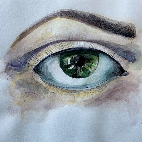 (CreativeWork) LOOK ME IN THE EYE AND... by Irma Calabrese. Watercolour Paint. Shop online at Bluethumb.