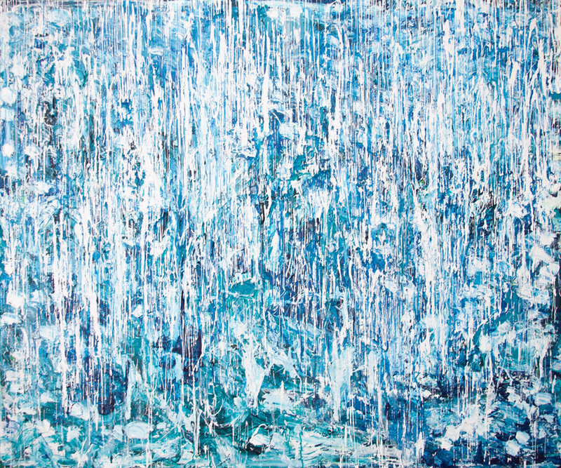 (CreativeWork) Rain 2020 by Annette Spinks. Acrylic Paint. Shop online at Bluethumb.
