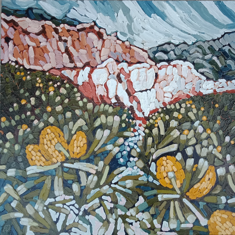 """(CreativeWork) """"TAKE A WALK TO THE PINNACLES"""" by Emily Day. Acrylic Paint. Shop online at Bluethumb."""