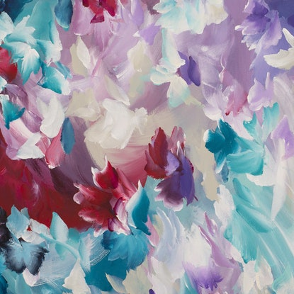 (CreativeWork) Happiness by Amber Gittins. Acrylic Paint. Shop online at Bluethumb.