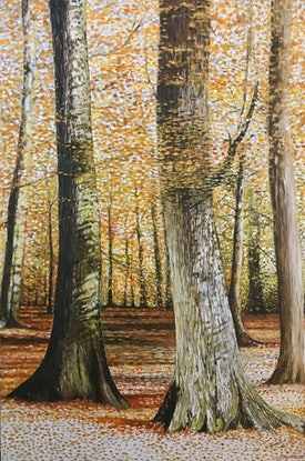 (CreativeWork) AUTUMN SONATA by LOUISE GROVE WIECHERS. Acrylic Paint. Shop online at Bluethumb.