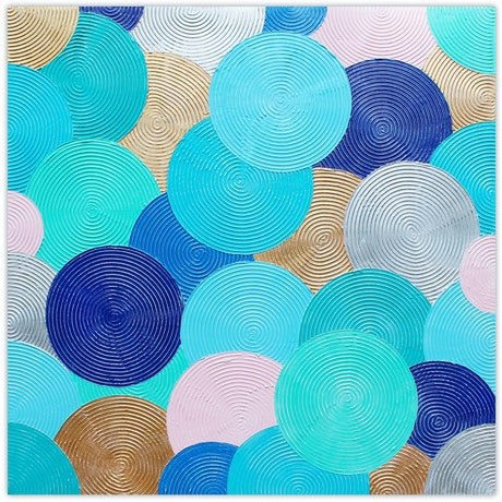 (CreativeWork) Ocean Swirls vs 2 Beach Abstract by Miranda Lloyd. Mixed Media. Shop online at Bluethumb.