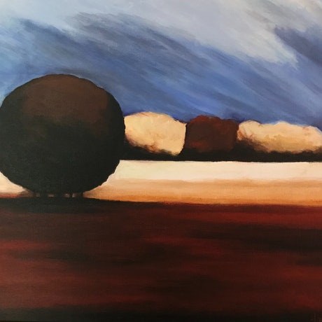 (CreativeWork) AUTUMN FIELDS II by LOUISE GROVE WIECHERS. Acrylic Paint. Shop online at Bluethumb.