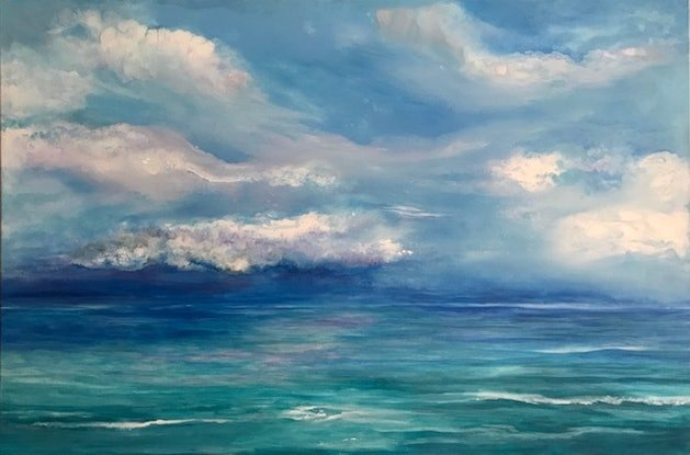 (CreativeWork) Pending Storm by Jackie Peach. Acrylic Paint. Shop online at Bluethumb.