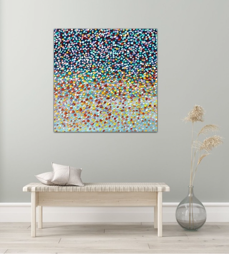 (CreativeWork) Dancing with the Stars by Theo Papathomas. Oil Paint. Shop online at Bluethumb.