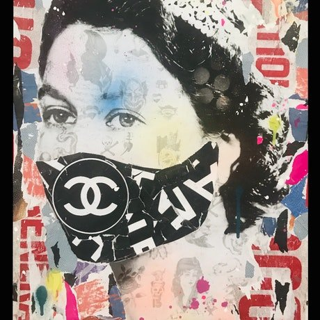 (CreativeWork) Quarantine Queen 3 by Cold Ghost. Mixed Media. Shop online at Bluethumb.