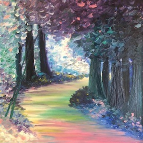 (CreativeWork) Where does my path lead? by Leanne Selkirk. Oil Paint. Shop online at Bluethumb.