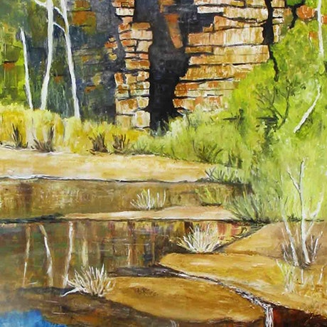 (CreativeWork) chambers Gorge by Andrew BARR. Oil Paint. Shop online at Bluethumb.