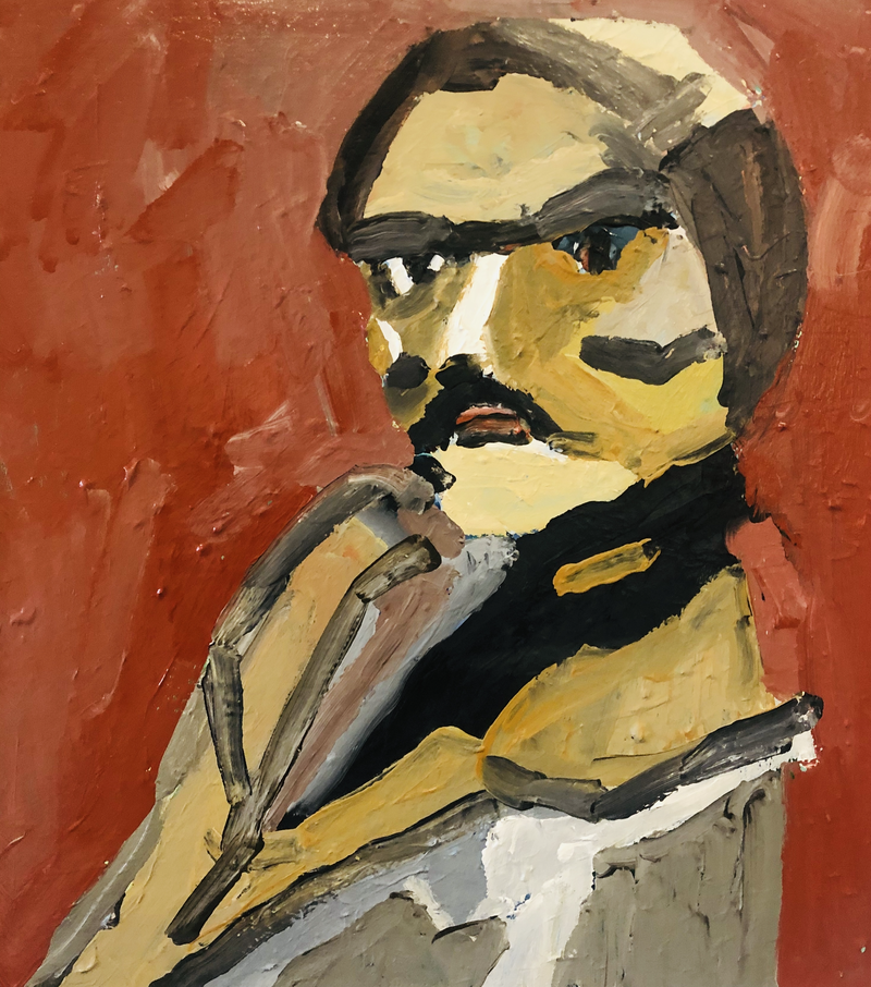 (CreativeWork) Gentle man by Sharon Monagle. Acrylic Paint. Shop online at Bluethumb.