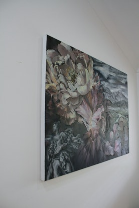 (CreativeWork) When Two Worlds Collide by Kathryn Fenton. Oil Paint. Shop online at Bluethumb.