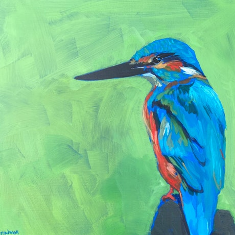 (CreativeWork) The King by Kate Gradwell. Acrylic Paint. Shop online at Bluethumb.