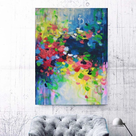 (CreativeWork) It's all with you by Belinda Nadwie. Oil Paint. Shop online at Bluethumb.