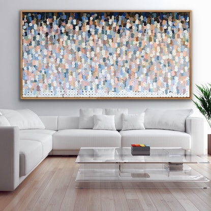 (CreativeWork) Semifreddo 200x102 framed large abstract  by Sophie Lawrence. Acrylic Paint. Shop online at Bluethumb.