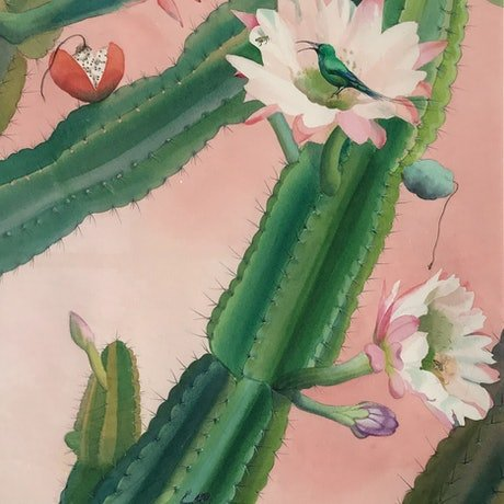 (CreativeWork) CACTUS ON NOWTH CREEK ROAD   2 by Helen Halliday. Mixed Media. Shop online at Bluethumb.