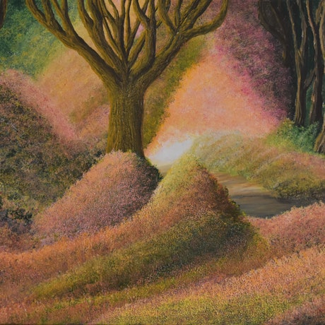 (CreativeWork) The Journey by Brandon Wockner. Acrylic Paint. Shop online at Bluethumb.