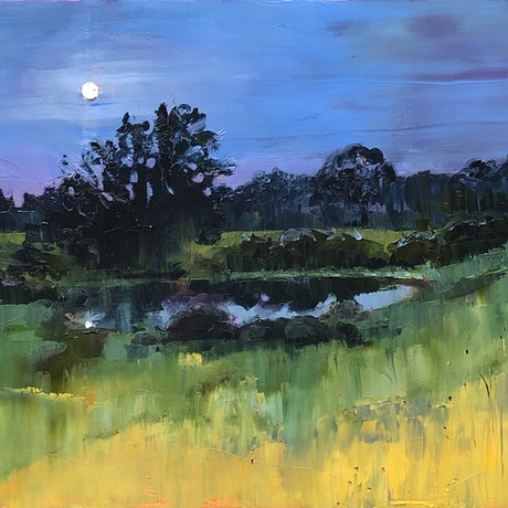 (CreativeWork) The moment before dawn by kirsty mcintyre. Oil Paint. Shop online at Bluethumb.