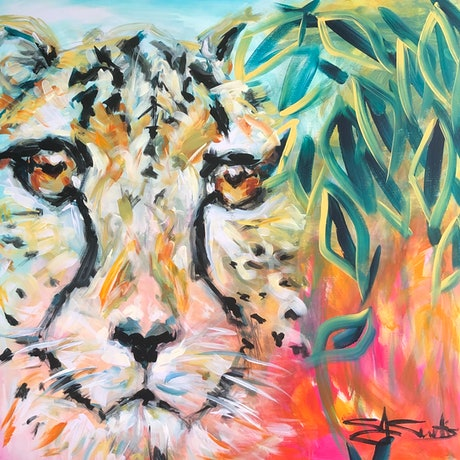 (CreativeWork) Are we being Cheetah-d? by Christine Curtis. Acrylic Paint. Shop online at Bluethumb.