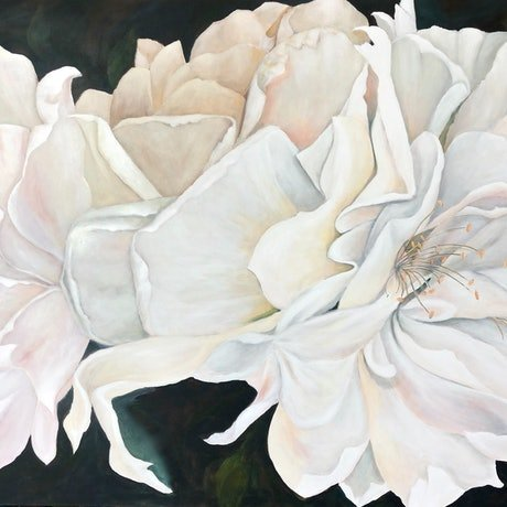 (CreativeWork) Iceberg Roses by Marion Rispin. Acrylic Paint. Shop online at Bluethumb.