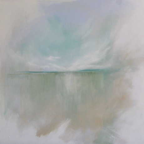 "(CreativeWork) Abstract Landscape ""Simplicity"" by Eve Izzett. Acrylic Paint. Shop online at Bluethumb."