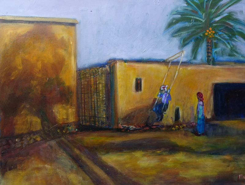 (CreativeWork) THE SWING by Maureen Finck. Oil Paint. Shop online at Bluethumb.