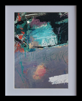 (CreativeWork) I live 4 the funk  1 - Improvisational music series by Damien Venditti. Oil Paint. Shop online at Bluethumb.