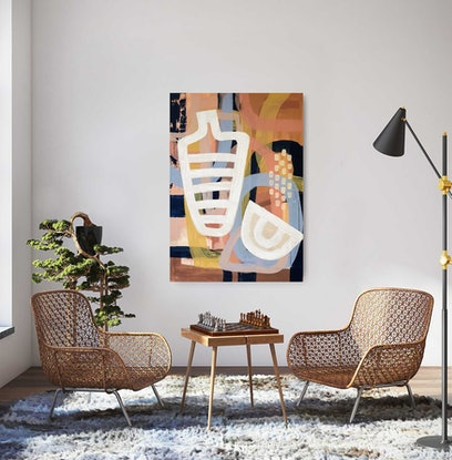 (CreativeWork) Day break by Amy Kim. Acrylic Paint. Shop online at Bluethumb.
