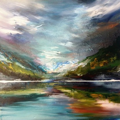 (CreativeWork) Destination Unknown by Alice Howell. Oil Paint. Shop online at Bluethumb.