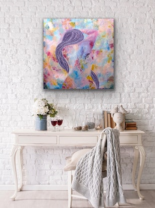 (CreativeWork) Cool & Calm - Emotions Series  by Julie Dynan. Acrylic Paint. Shop online at Bluethumb.