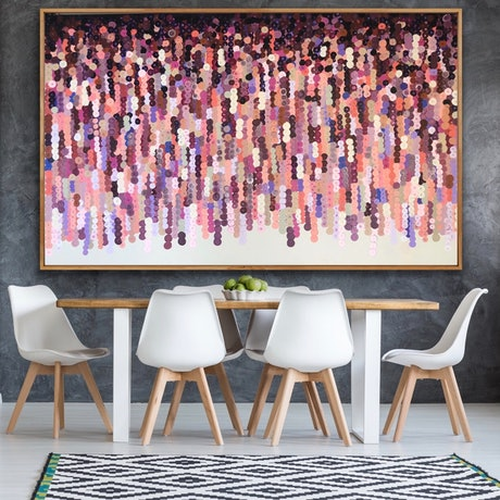 (CreativeWork) On sale Christobel 200x122 framed Large abstract by Sophie Lawrence. Acrylic Paint. Shop online at Bluethumb.