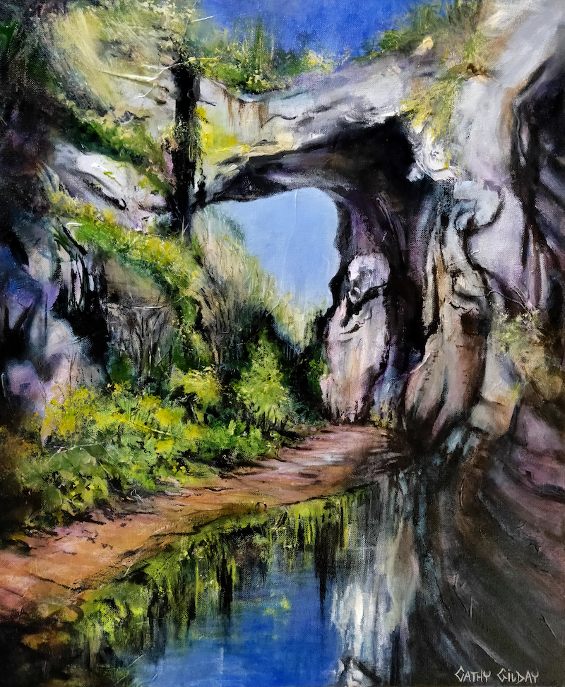 (CreativeWork) Endurance by Cathy Gilday. Acrylic Paint. Shop online at Bluethumb.