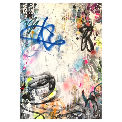 (CreativeWork) Street Abstract 143 by Cold Ghost. Mixed Media. Shop online at Bluethumb.