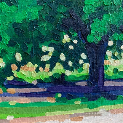 (CreativeWork) Late Summer by Aylee Kim. Oil Paint. Shop online at Bluethumb.