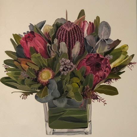 (CreativeWork) An Arrangement  by Bernadette McConville. Oil Paint. Shop online at Bluethumb.
