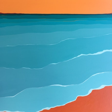 (CreativeWork) Seascape 5  by Marian Quigley. Acrylic Paint. Shop online at Bluethumb.