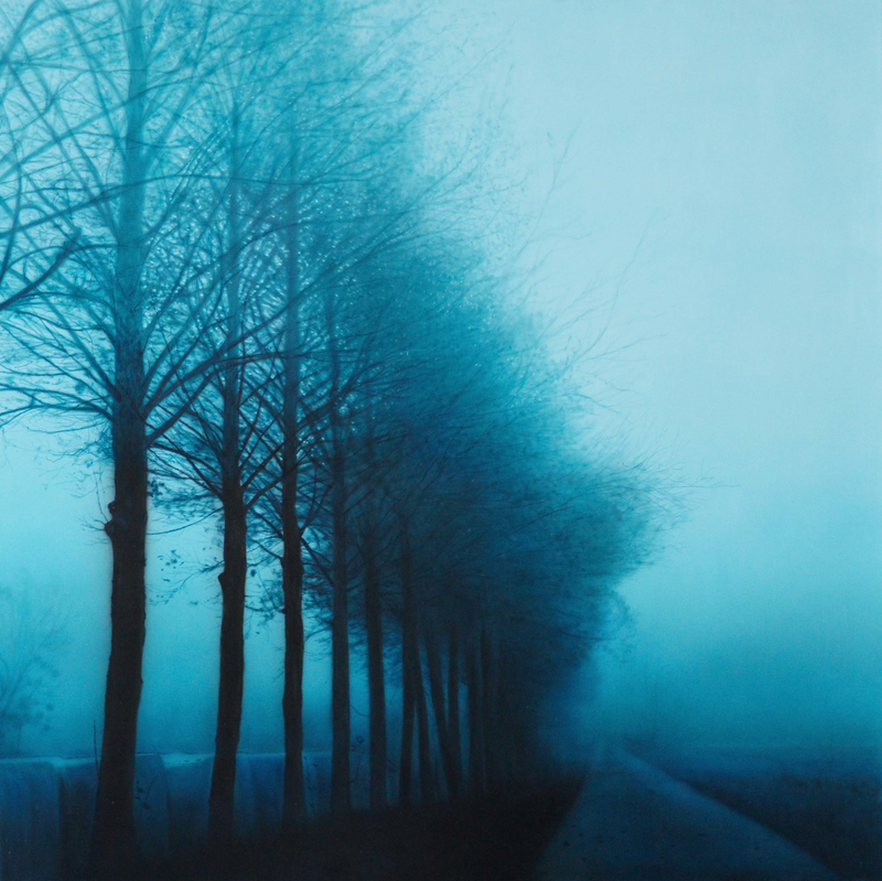 (CreativeWork) Winter Lane by Todd Simpson. Acrylic Paint. Shop online at Bluethumb.