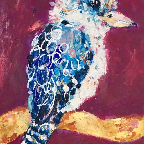(CreativeWork) Pete  by Sally Perrett. Acrylic Paint. Shop online at Bluethumb.