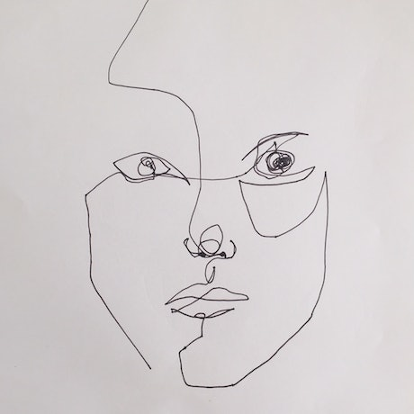 (CreativeWork) One Line: Self Portrait 1 by Sally Perrett. Drawing. Shop online at Bluethumb.