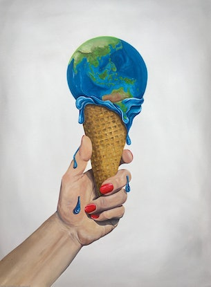 (CreativeWork) In Our Hands by Lara Louise Karpeljuk. Acrylic Paint. Shop online at Bluethumb.