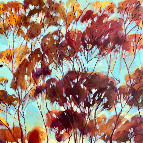 (CreativeWork) Solitude  by Kate Gradwell. Acrylic Paint. Shop online at Bluethumb.
