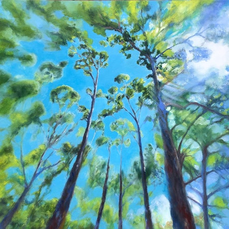 (CreativeWork) Aloft by Karina Buckingham. Oil Paint. Shop online at Bluethumb.