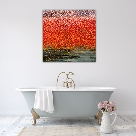 (CreativeWork) Rose Petals  by Theo Papathomas. Oil Paint. Shop online at Bluethumb.