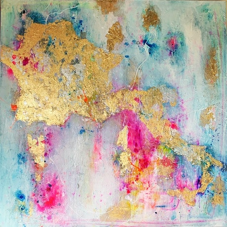 (CreativeWork) Amour sans frontières. Original artwork on canvas by Melissa LaBozzetta by Melissa La Bozzetta. Mixed Media. Shop online at Bluethumb.
