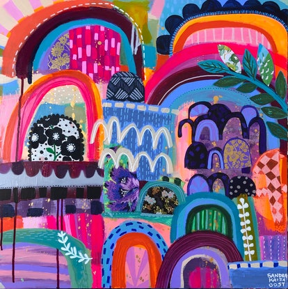 (CreativeWork) Rainbows  by Sandra Oost. Mixed Media. Shop online at Bluethumb.