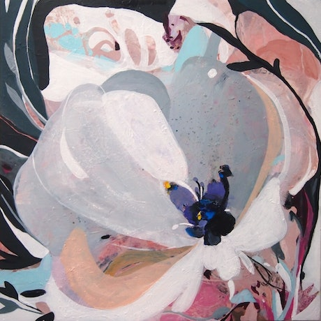 (CreativeWork) Ritzy Anemone by Tulika Das. Acrylic Paint. Shop online at Bluethumb.