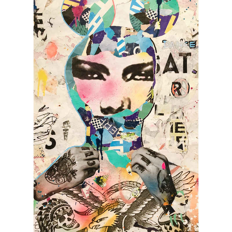 (CreativeWork) DANCE RIOT FUCK by Cold Ghost. Mixed Media. Shop online at Bluethumb.