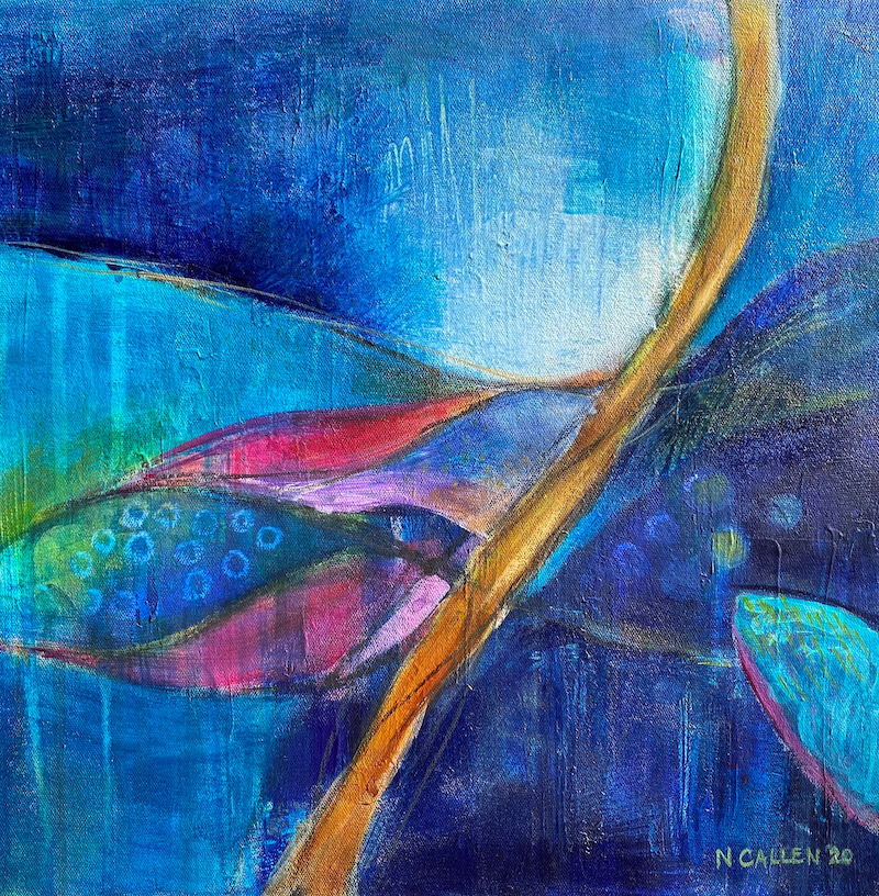 (CreativeWork) Midnight Harvest by Narelle Callen. Acrylic Paint. Shop online at Bluethumb.