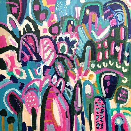 (CreativeWork) A Welcome Home by Jane Thompson. Acrylic Paint. Shop online at Bluethumb.