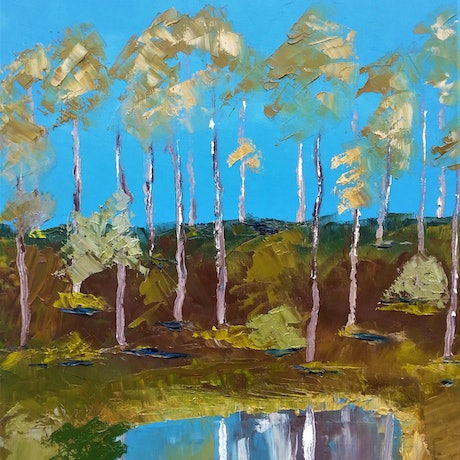 (CreativeWork) BILLABONG by owen jones. Oil Paint. Shop online at Bluethumb.