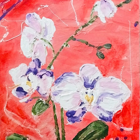 (CreativeWork) Orchids  by Galina Nistor. Acrylic Paint. Shop online at Bluethumb.