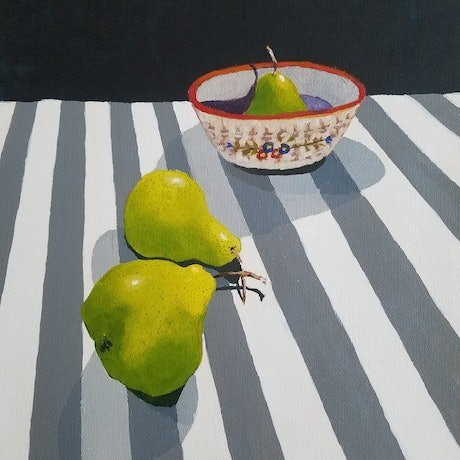 (CreativeWork) Two's Company by Christine McLean. Acrylic Paint. Shop online at Bluethumb.